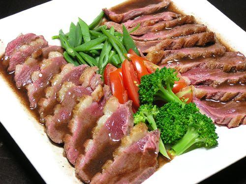フライパンで焼く鴨むね肉(ペプシネクスソース)
