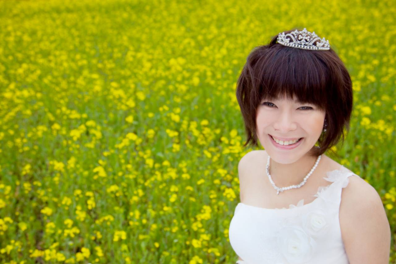 阿蘇ー菜の花畑ー花嫁写真