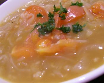 トマト押し麦スープ