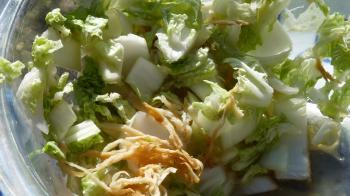 白菜と切干大根の浅漬け