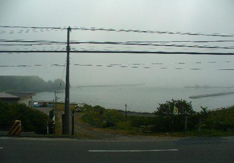 霧のかかった海
