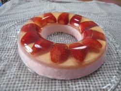 イチゴレアチーズケーキ ゼラチン