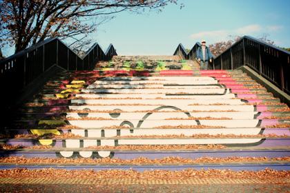 代々木公園の虹色の階段