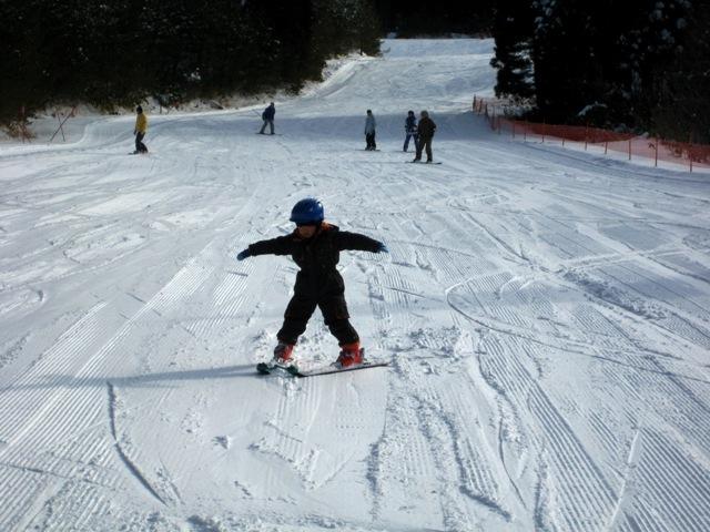 岳スキー初すべり 013