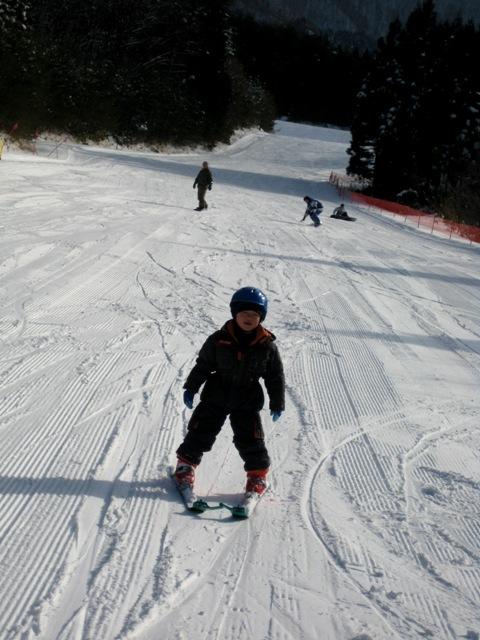 岳スキー初すべり 016