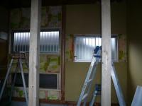 K様邸 壁、窓枠2