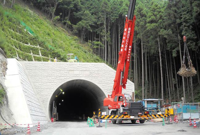 4号トンネル工事現場