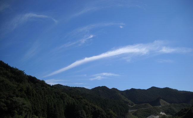 上南摩にて 卷雲