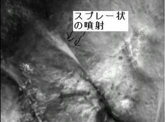スプレー状の噴射