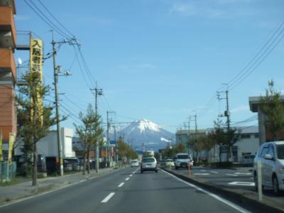 米子市内から~大山を望む