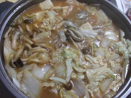 牡蠣の土手鍋よ~