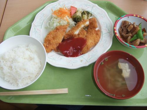 K立病院の食堂の日替わり定食¥500なり