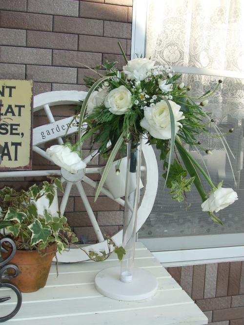 レッスンの花 ほぐれた花嫁の花束