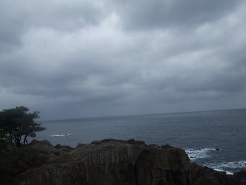 日本海だ!!!ひゅ〜〜〜〜〜