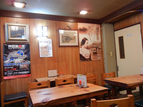 上田蕎麦さん店内