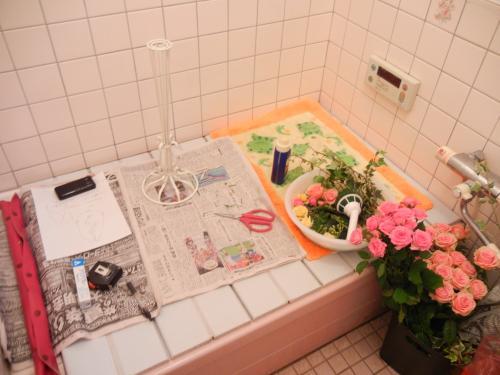 風呂場で作業
