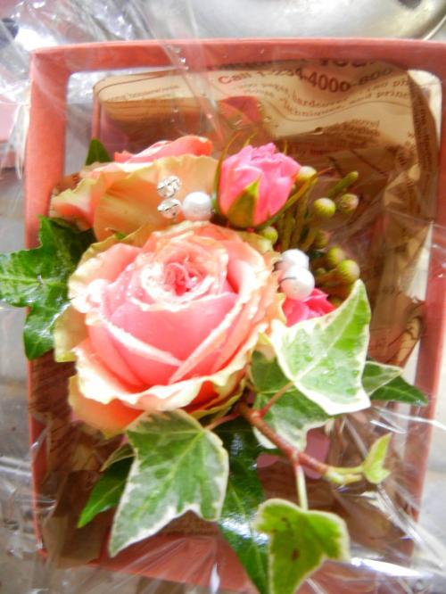 ブートニア(新郎の胸の花)