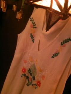 エスニック刺繍ロングワンピース
