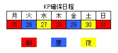 24~31日KP日程