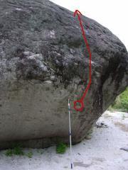 白州「八間岩カンテ」二段