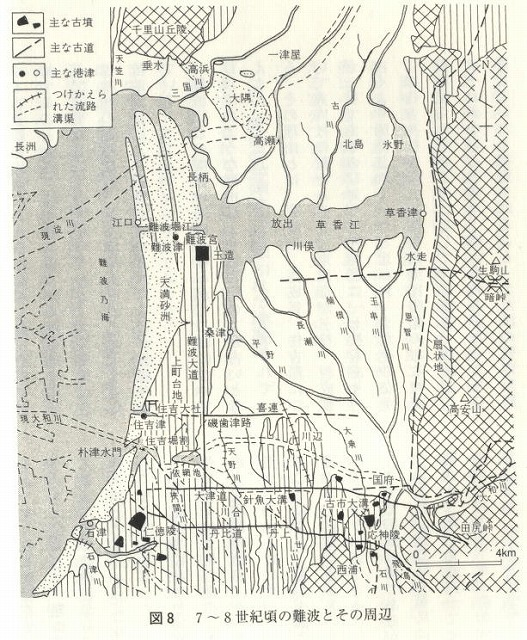 古代の難波地図