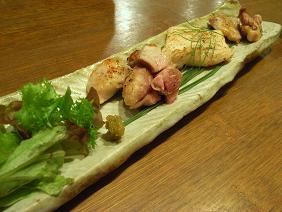 主菜1 丹波地鶏のあら塩焼き