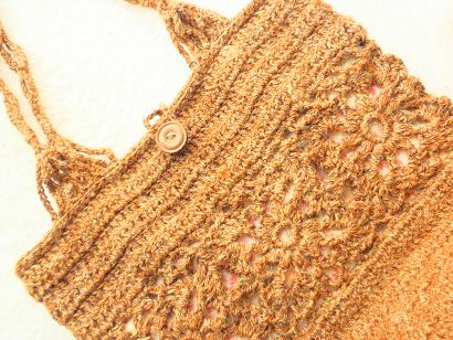 麻糸の編みバッグ4