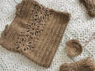 麻糸の編みバッグ5
