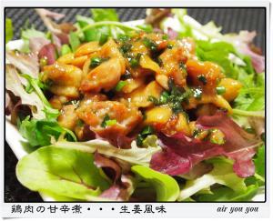 鶏肉の甘辛煮・・・生姜風味