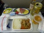 2010/7/31昼食 JL876便(上海浦東-成田)にて