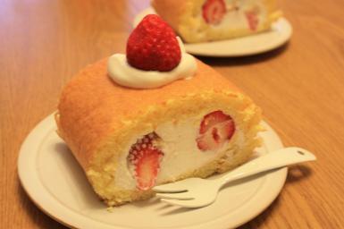 はじめてのロールケーキ