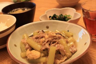 ふきと豚肉のとろとろ炒め煮