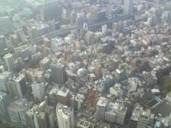 東京のゴミゴミした街並み