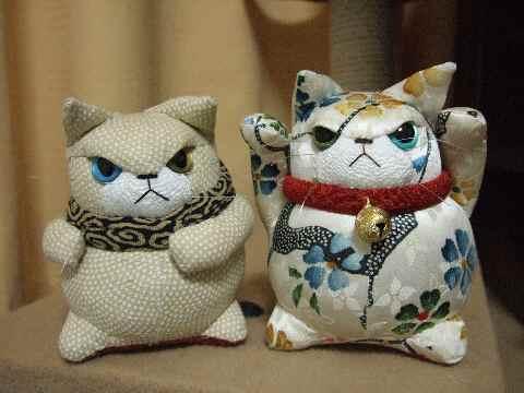 泥棒猫と招き猫