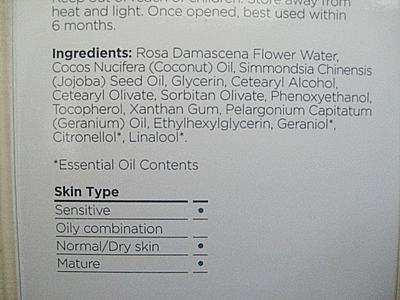 Renewing Rose Cleanser Ingredients