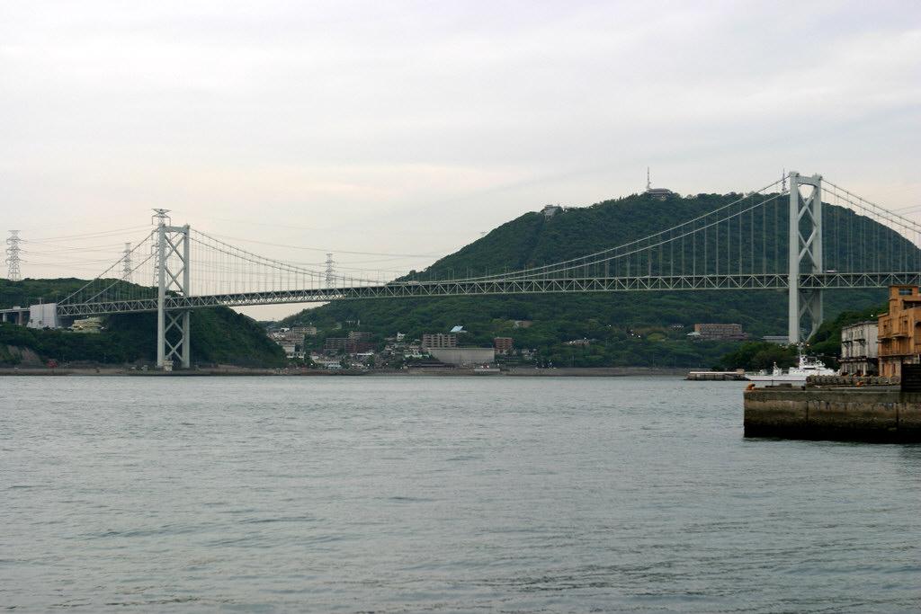 門司港から見た関門橋