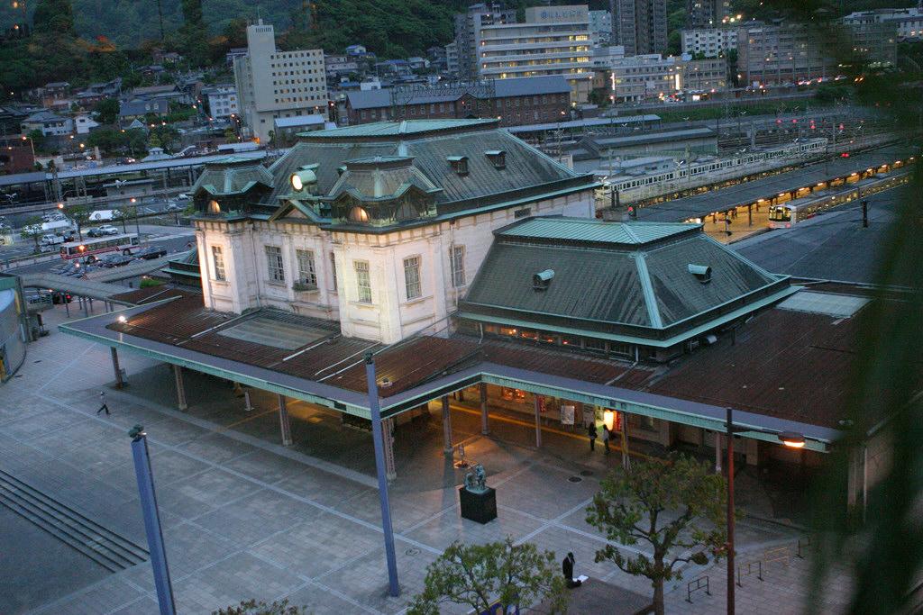 上から見た門司港駅駅舎
