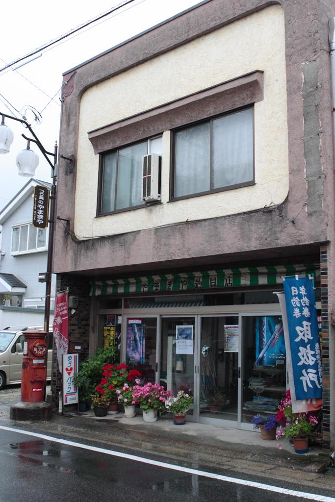 中津川の釣具屋前の丸ポスト