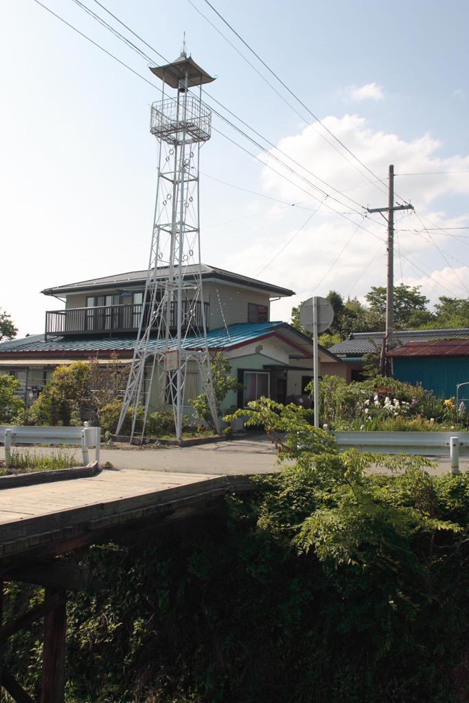 木橋と火の見櫓