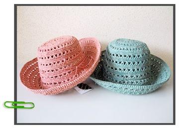 Sans-Arcidet サンアルシデ 透かし編みラフィア帽