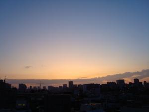 9月5日の早朝の空