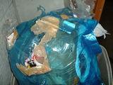 襲われたゴミ袋