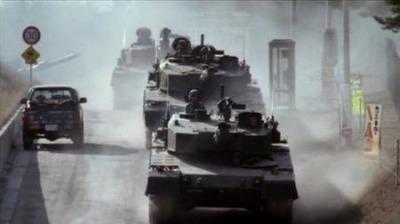 90式戦車驀進中・・・