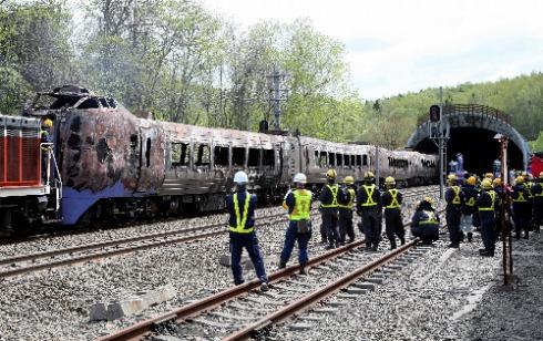石勝線特急列車脱線火災事故