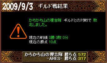 9/3かちかち山の狸吉隊戦
