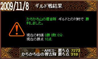 11/8かちかち山の狸吉隊戦