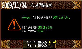 11/24skycry戦