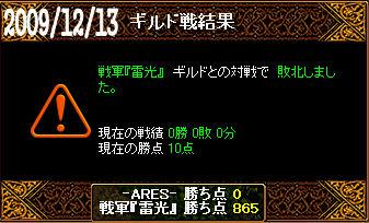 12/13戦軍『雷光』戦