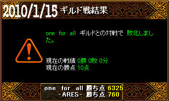 1/15one for all戦