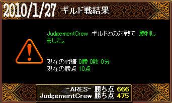 1/27JudgementCrew戦